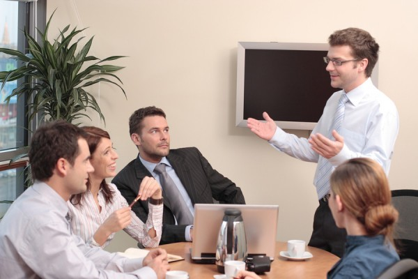 group of professionals at the coaching in office